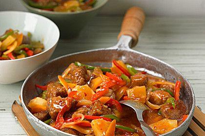 Schweinefleisch süß - sauer, ein schmackhaftes Rezept aus der Kategorie Chinesisch. Bewertungen: 69. Durchschnitt: Ø 4,3.