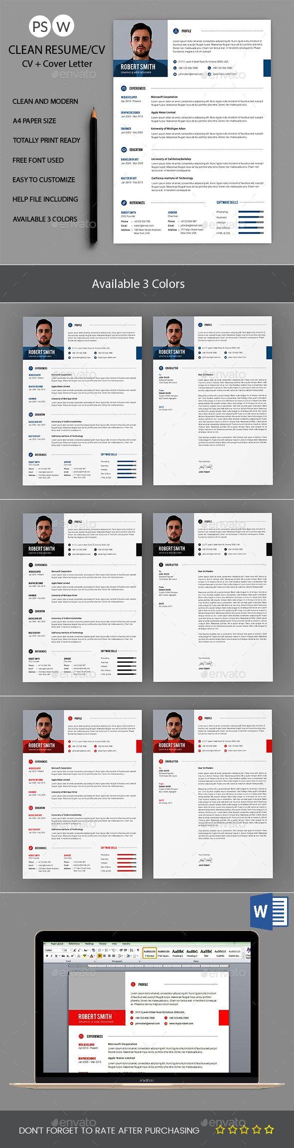 46 best cv 2 elegant images on Pinterest | Resume templates, Cv ...