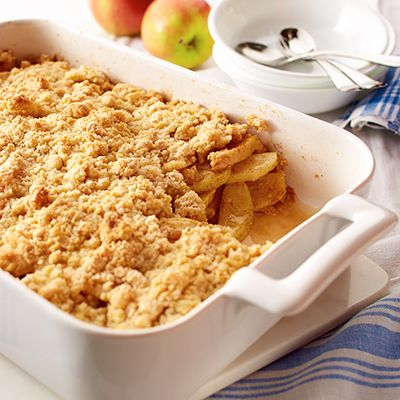 Apple cobbler may become one of your favorite apple desserts once you try this recipe. Serve this old-fashioned crunchy cobbler warm, with a dollop of ice cream.