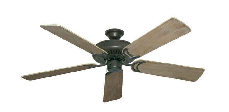 Non-ugly ceiling fan. Riviera ORB with 52 Driftwood Finsih