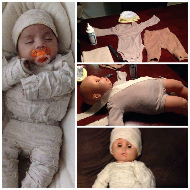 Diy Baby Mummy Costume Halloween