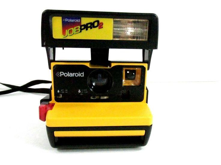 Vintage POLAROID JOB PRO 2 Edition Instant 600 Film CAMERA w/ FLASH #Polaroid