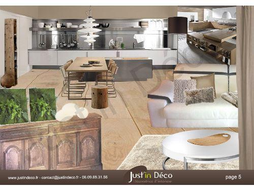 Book deco planche ambiance salon et cuisine ambiance nature pur e chaleureuse et lumineuse Cuisine blanc et taupe