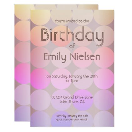 Modern Birthday Invitation - birthday cards invitations party diy personalize customize celebration