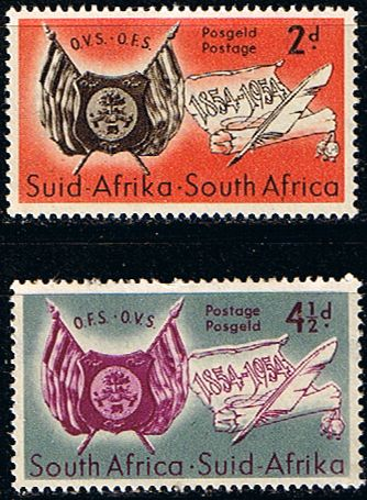 South Africa 1954 Orange Free State Set Fine Mint SG 149 50 Scott 198 9 Condition Fine LMMOnly one post charge applied on multipule purchases