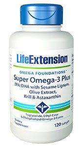 Super Omega-3 Plus EPA/DHA with Sesame Lignans, Olive Extract, Krill & Astaxanthin - Superior cardio support