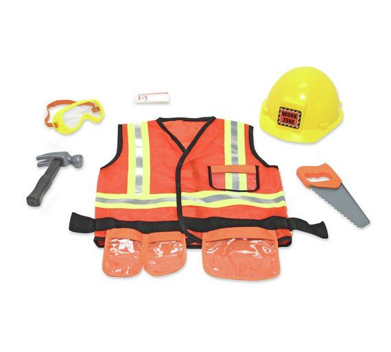 Buy Melissa and Doug Construction Worker Role Play at Argos.co.uk, visit Argos.co.uk to shop online for Children's fancy dress costumes, Children's fancy dress, Role play, Toys