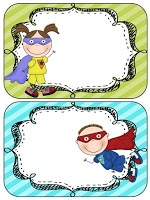 Super Hero editable class rules posters