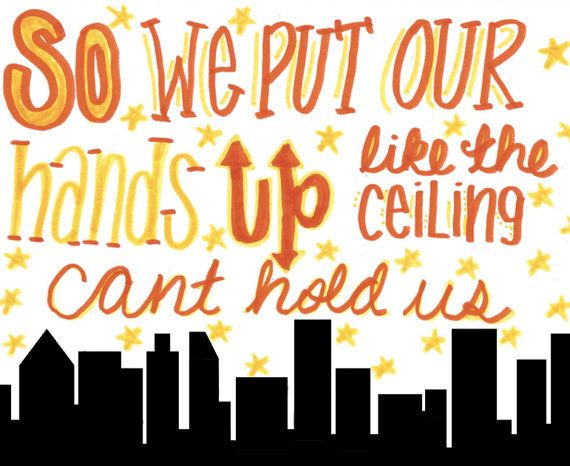 Cant hold us (by macklemore) - lyric drawing via Etsy