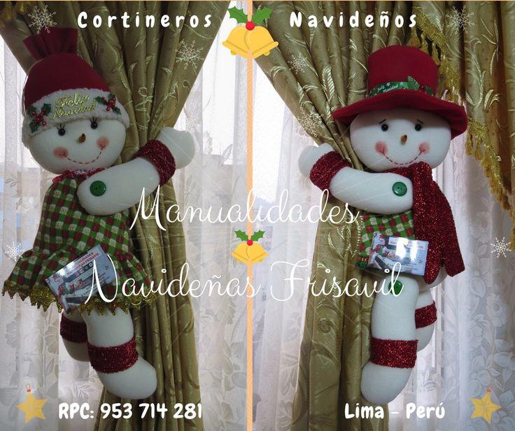 #cortineros Navideños ⛄ #decoracionnavideña  #manualidades #hechoamano