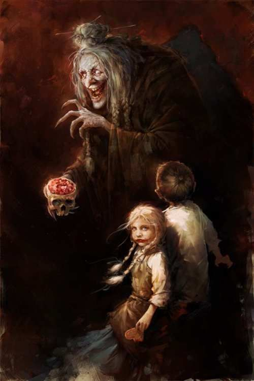 The Witch (Hansel and Gretel,Brothers Grimm, 1812). Disney ruined fairy tales, made them into commercial fluff.