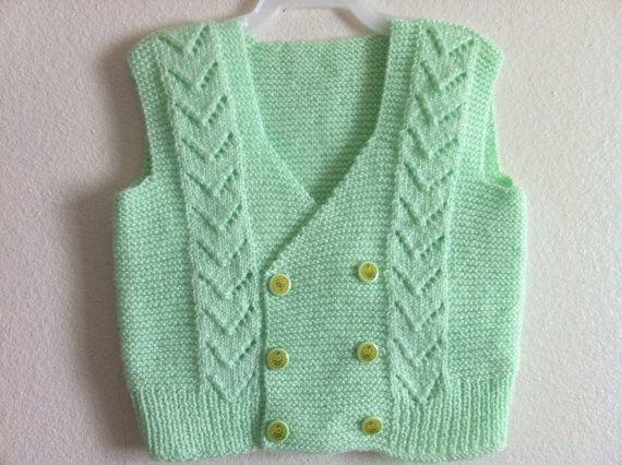 Knitting Baby Vest Bolero Knitting Baby Vest by zahraknitting