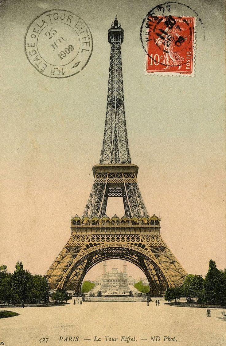 Открытка с видом эйфелевой башни, пожелание открытка подружкам