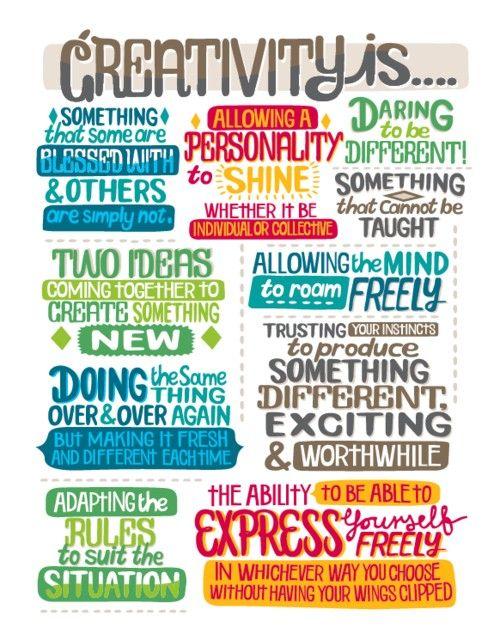 Creativity is...