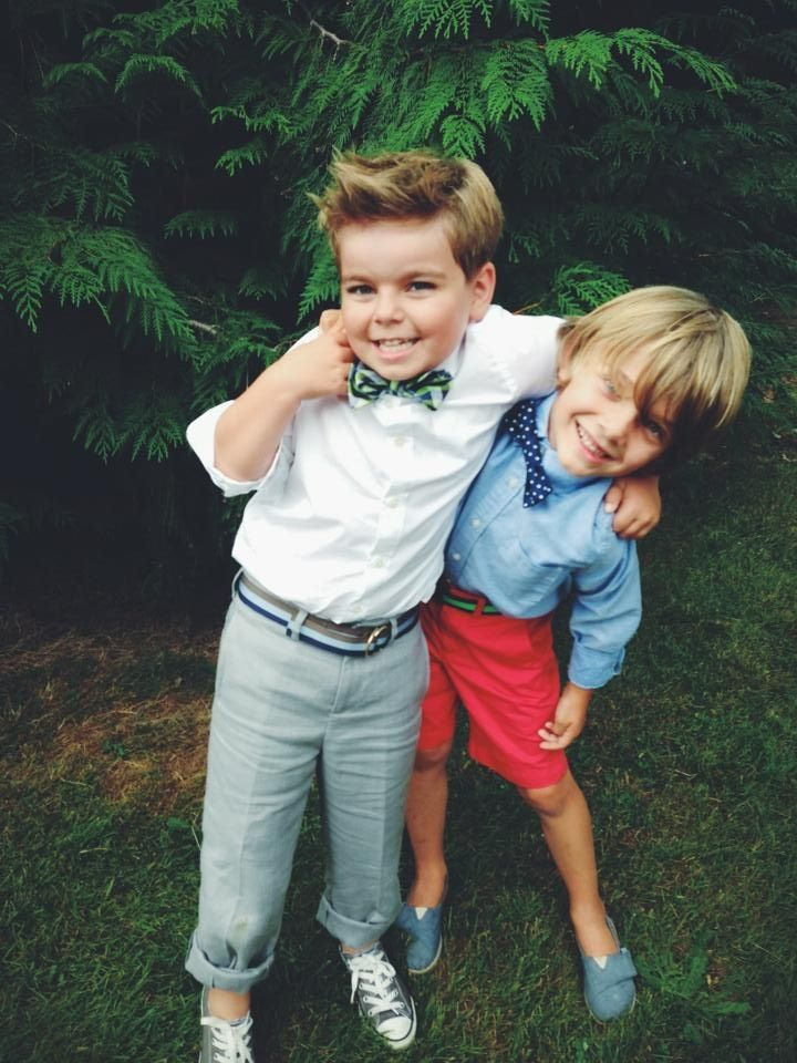 Ring Bearer Charlie M. And buddy Charlie B.  outfits by J.Crew, Gap, Converse