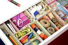 Create Your Own Cardboard Box Desk Drawer Organizers | eHow
