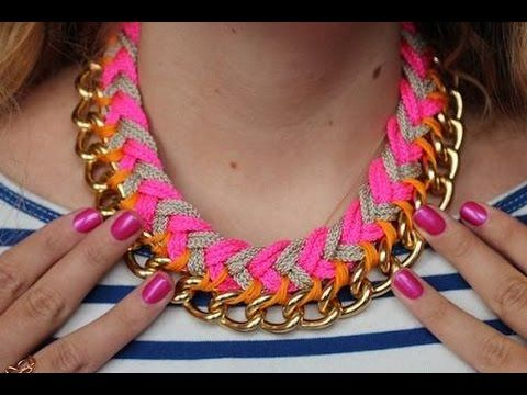Collares de bisuteria como hacer collares de moda bisuteria paso a paso gratis alambrismo - YouTube