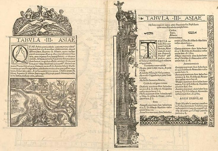 Ptolémée. Asiae Tabula III Colchis, Iberia, Albania, Armenia maor.A - Category:Miguel Servet - Wikimedia Commons