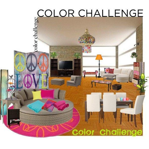 My Neon Home By Alejandra Soraires On Polyvore Featuring Interior Interiors Design