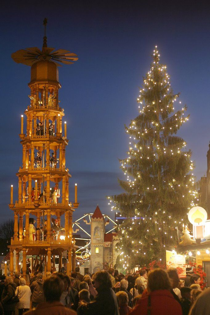 Christmas in Dresden, Germany. we have mini ones on the left from when I was born in Germany