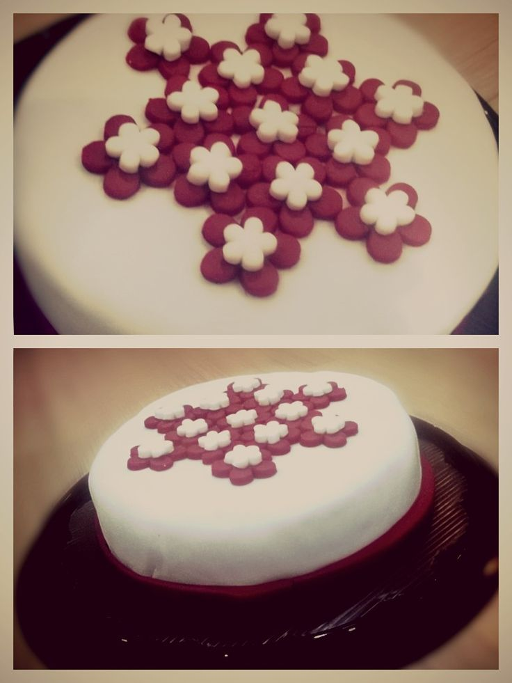 Laila's first try making fondant cake