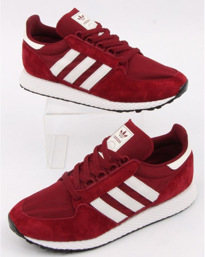 Adidas Forest Grove Trainers Burgundy