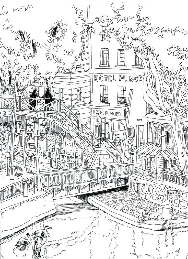hotel dunord graphic coloring pages coloring