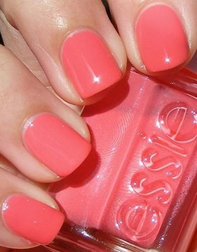 Essie Nail Polish in Cute as a button. Will go perfect with my new Stella bag :)