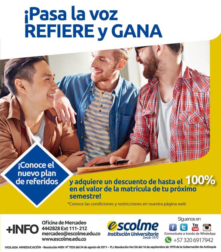 @Escolmeeduco ¡Pasa la VOZ REFIERE Y GANA!