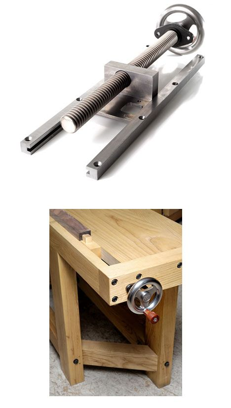 Benchcraft Tail Vise.  An attractive way to incorporate a less obtrusive bench-mounted vise into a workbench.