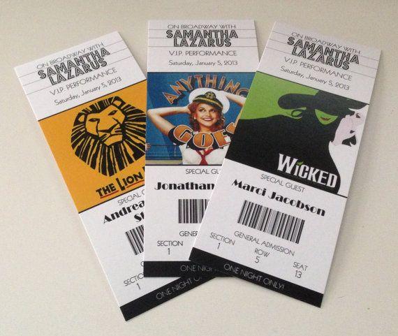 Více než 25 nejlepších nápadů na Pinterestu na téma Theater tickets - event ticket ideas