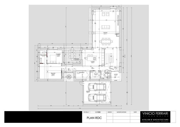 42 best Villas images on Pinterest House blueprints, Architecture - plan de maison de 100m2 plein pied
