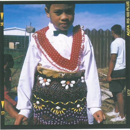 Greg Semu. The Longopoa family celebrates Neiufi's first communion. Blockhouse Bay, Auckland, 1993.