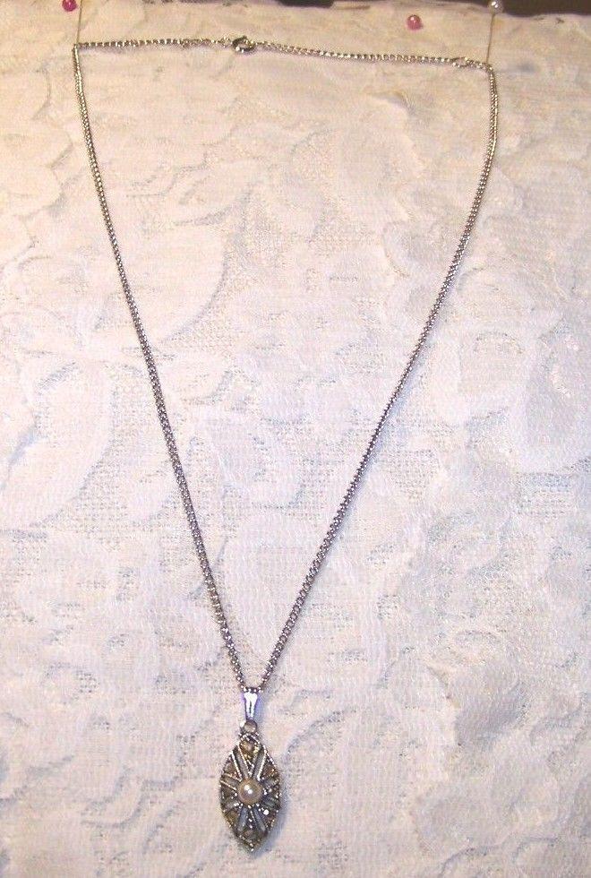 Vintage Sarah Coventry Silver Tone & Rhinestone Necklace