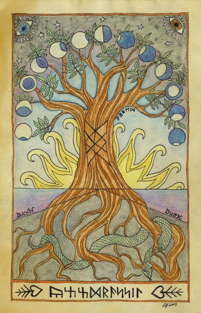 Yggdrasil, Tree of the Norse, from Norse mythology