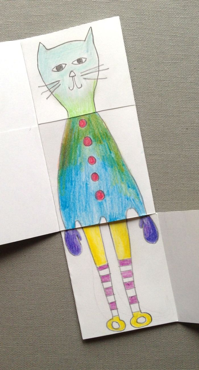 DIY: exquisite corpse drawing game for kids