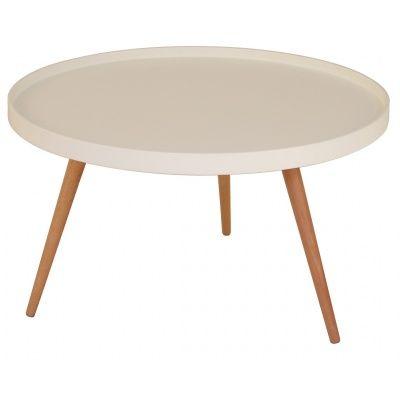 Nordic soffbord Runt 90 cm - Vit