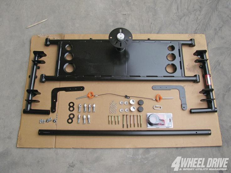 Easy Spare Tire Carrier Tiregate Kit Truck Tailgate
