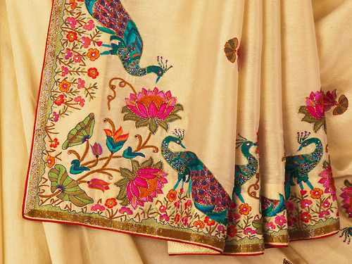 IT'S PG'LICIOUS — #embroidered #saree indian fashion