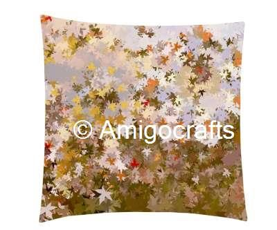 Summer Flowers Printed Cushion Cover& Fillers