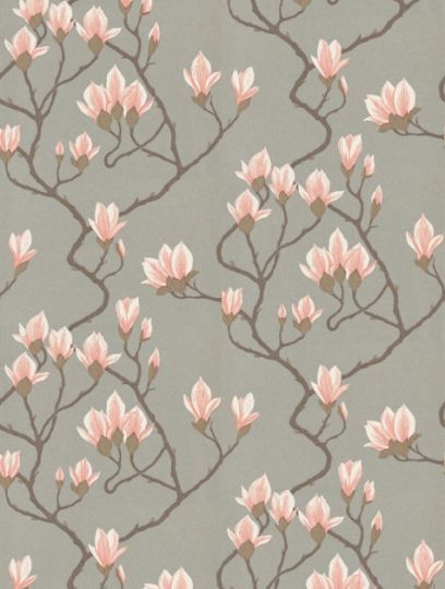 Magnolia, a feature wallpaper from Cole and Son, featured in the Contemporary Collection collection.
