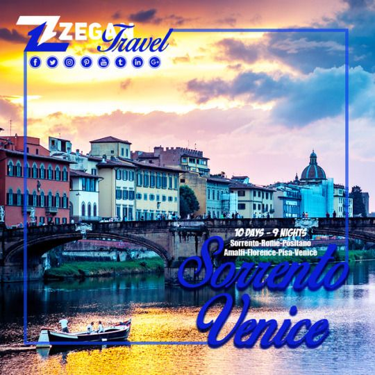 Sorrento - Venice ( 10 Days - 9 Nights)  *Sorrento-Rome-Positano -Amalfi-Florence-Pisa-Venice  *Airport Transfers  *Guided Daily Tours   Contact us now info@zegantravel.com  http://www.zegantravel.com/Sorrento-Rome-Positano-Amalfi-Fl…  #italy #italytour #italytravel #sorrento #rome #rometour #rometravel #positano #amalfi #florence #florencetour #florencetravel #pisa #pisatour #pisatravel #venice #venicetour #venicetravel