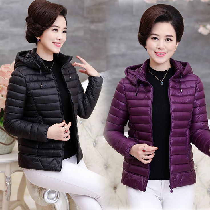 Middle - aged mother fitted with thin cotton down jacket women winter short paragraph in the elderly women 's cotton tide