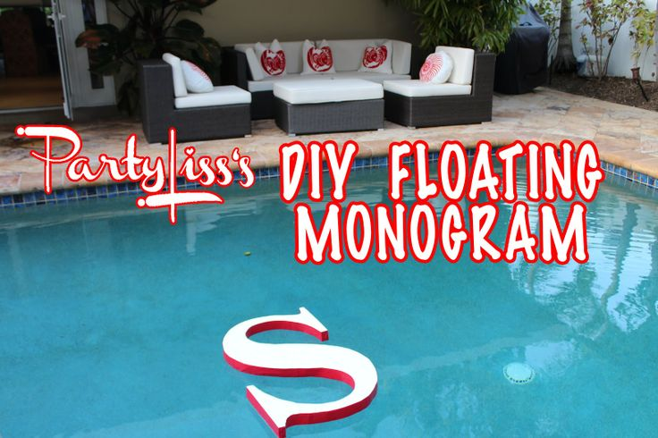 Floating monogram..paint to glow in dark or cover with greenery or flowers