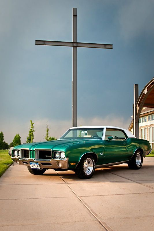 Image result for '72 cutlass supreme green