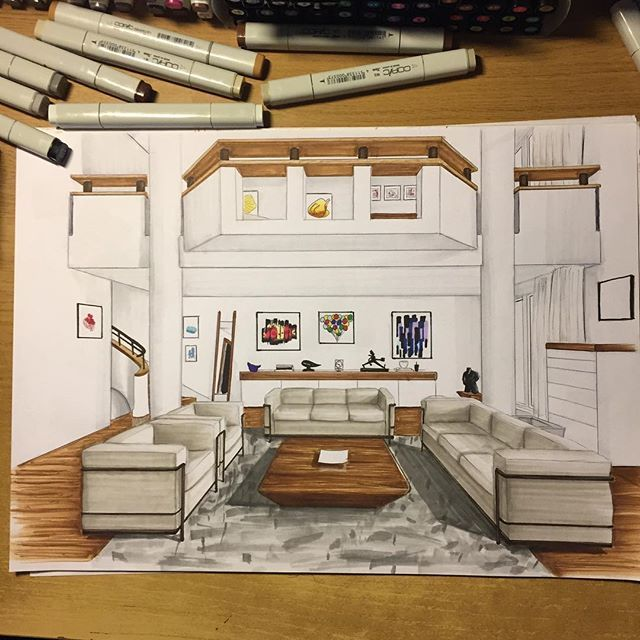 Interior Design Sketch: 25+ Creative Interior Design Sketches Ideas To Discover