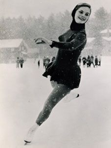 Carol Heiss - 1960 gold medalist and first woman to complete a double axel in competition