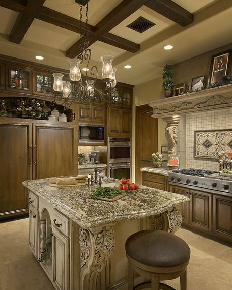 beautiful kitchen island.. not so ornate... but show the hubby... and imagine with the dark wood floors... amazing!!!