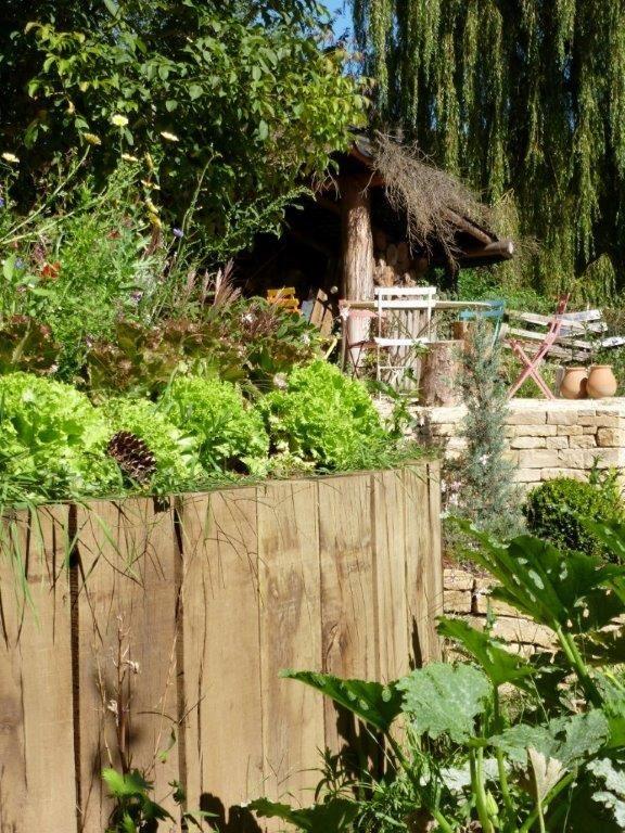 Jardin muret et palissade bois Luxembourg
