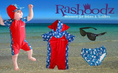 Rashoodz swimwear on Baby Berry - love that the hat is attached to the suit! http://www.babyberry.co.nz/home/thursday-s-thought-rashoodz/